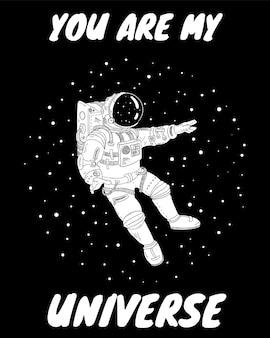 Tu es mon univers carte postale