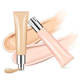 Tube de cosmétique de beauté de crème de bb pour la base de peau