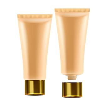 Tube cosmétique de soins de la peau de la crème pour le visage