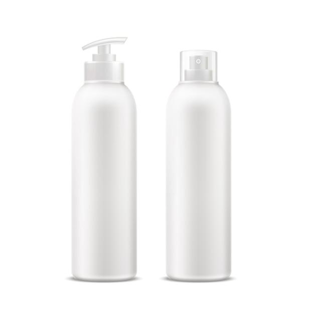 Tube de crème spa réaliste, bouteille de déodorant avec ensemble distributeur.