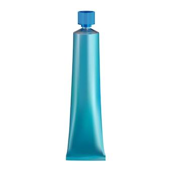 Tube de peinture pour cheveux tube de colle métallique en aluminium emballage flexible de crème pour le visage vierge