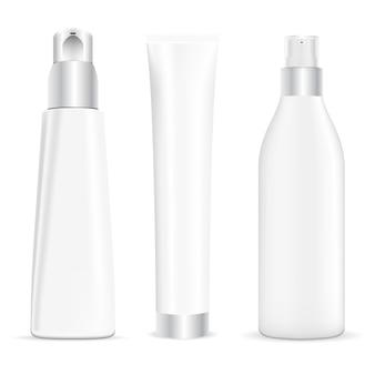 Tube de pompe, distributeur de crème cosmétique, paquet de beauté de tube de crème