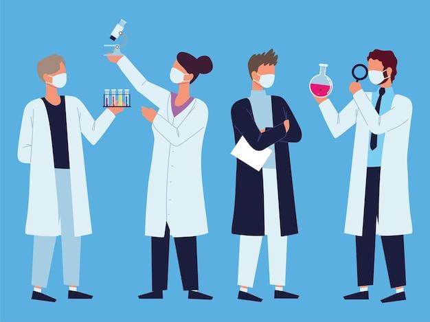 Tubes à essai de laboratoire du personnel médical