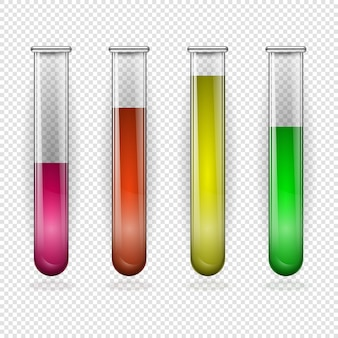 Des tubes à essai. tubes à essai vectoriels remplis de sang. illustration vectorielle
