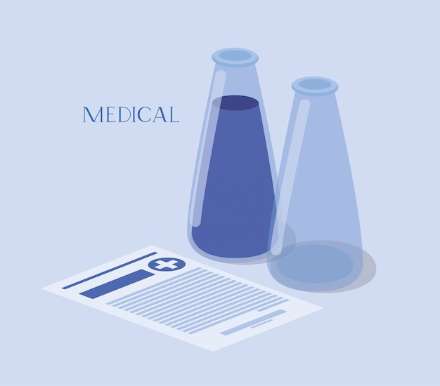 Tubes médicaux teste les médicaments sur commande