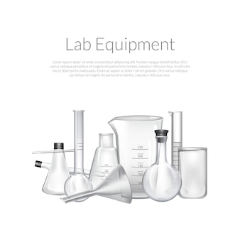 Tubes de verre de laboratoire de chimie