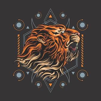 Tueur tigre géométrie sacrée