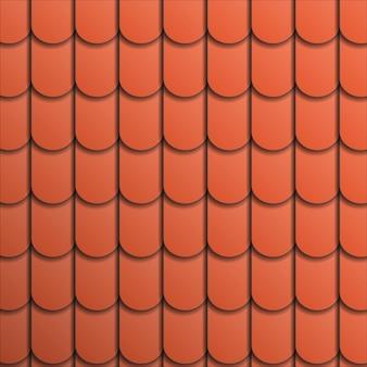 Tuile en terre cuite motif