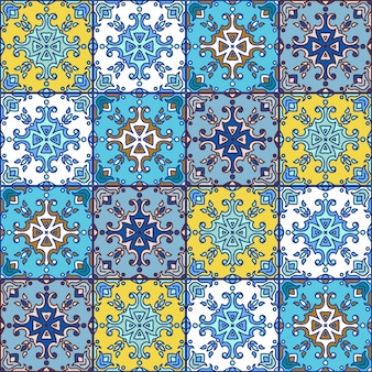 Tuiles d'azulejos portugais. bleu et blanc magnifique patte sans soudure