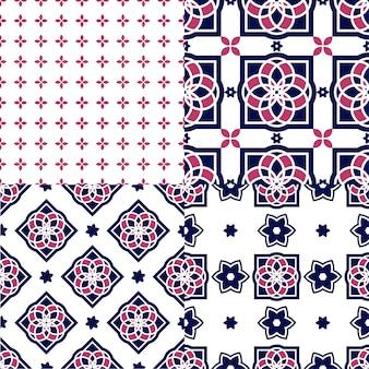 Tuiles d'azulejos portugais. modèles sans soudure