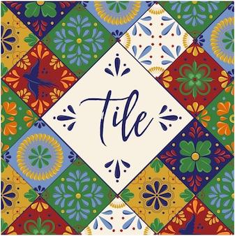 Tuiles mexicaines talavera - composition de l'espace de copie
