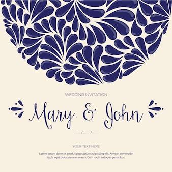 Tuiles mexicaines talavera - modèle d'invitation de mariage