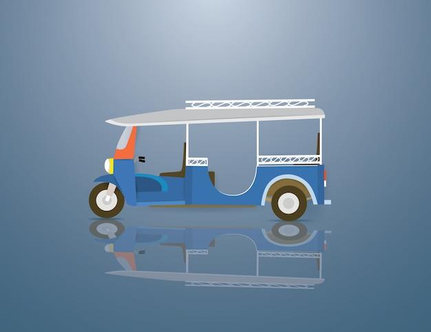 Tuktuk est un véhicule en thaïlande