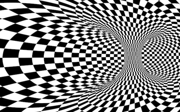 Tunnel de trou de ver abstrait