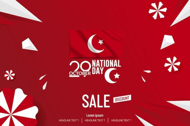 Turquie, fête de l'indépendance, vente, vecteur, fond, illustration