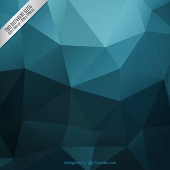 Turquoise foncé fond polygonale