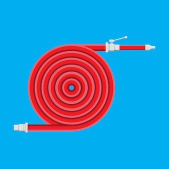 Tuyau d'eau pour éteindre le feu. équipement d'incendie.