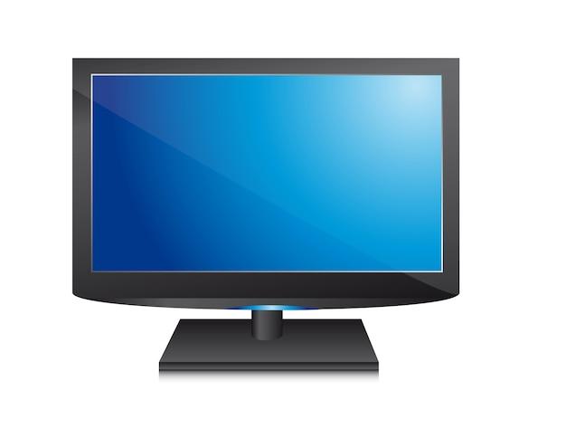 Tv sur illustration vectorielle fond blanc