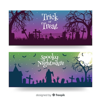 Twilight halloween bannières plates