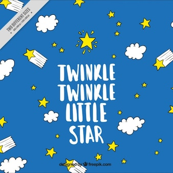 Twinkle twinkle little star, fond