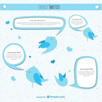 Twitter conception de vecteur d'oiseau