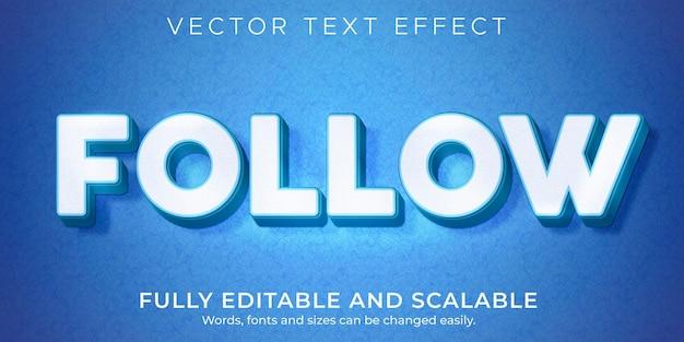 Twitter suit l'effet de texte des médias sociaux, le style de texte commercial et marketing modifiable