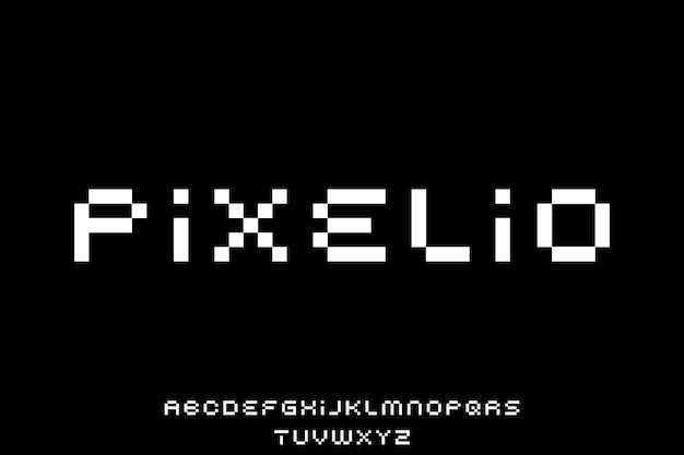 Type d'alphabet de police d'affichage de vecteur de police bit