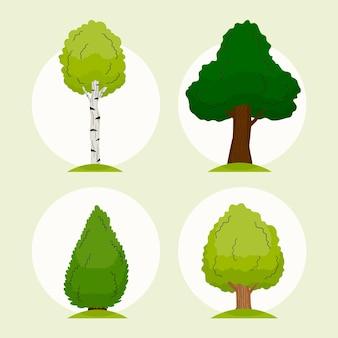 Type d'arbres dessinés à la main