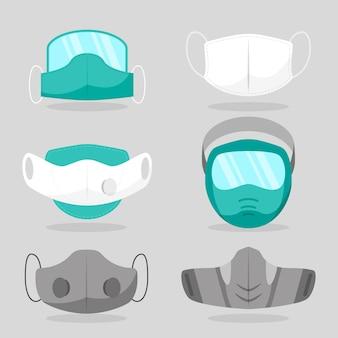 Type de concept de masques faciaux