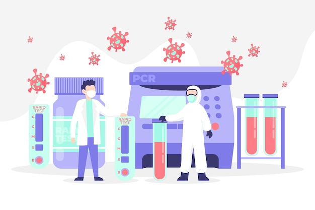 Type De Concept De Test De Coronavirus Vecteur gratuit