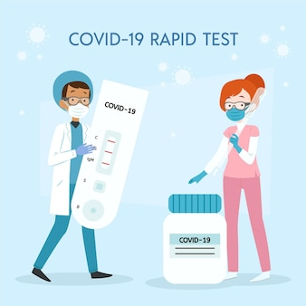 Type de concept de test de coronavirus