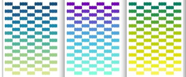 Type de dégradé minimal motifs de type mate coloré