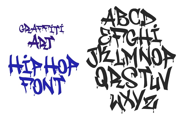 Type De Hip Hop Grafitti Design Vecteur Premium