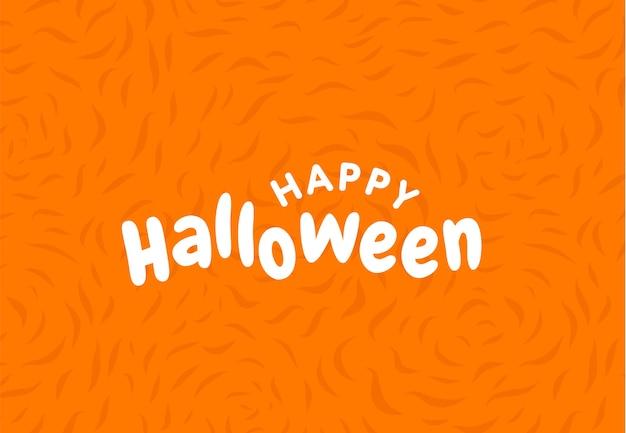 Type de lettrage happy halloween, calligraphie.
