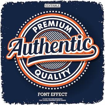 Type de logo authentique pour une société de produits ou de services