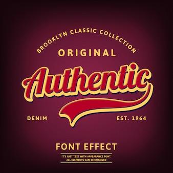 Type de logo authentique script rétro