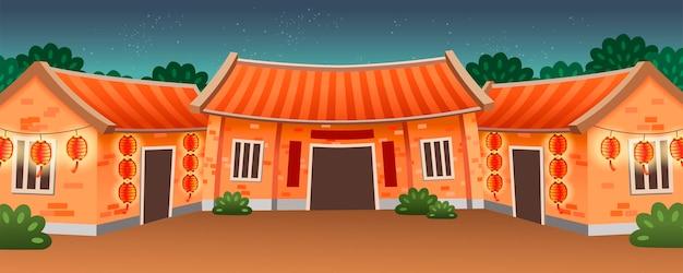 Type de résidence traditionnelle en chine pour la famille élargie