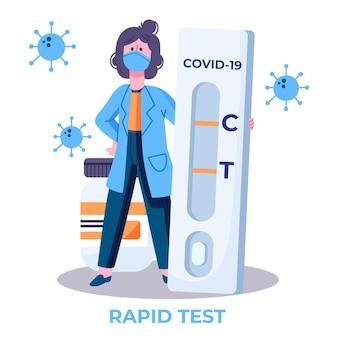 Type de test de coronavirus avec un médecin