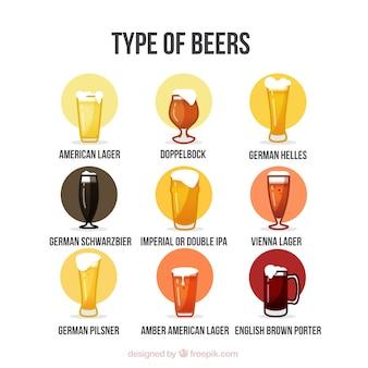 Types de bière tirée par la main