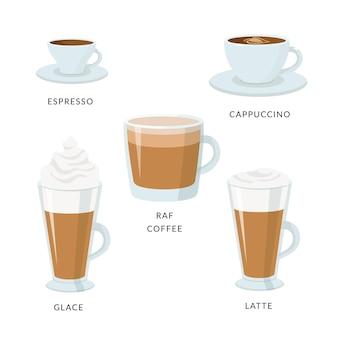 Types de café sélectionnant l'arôme