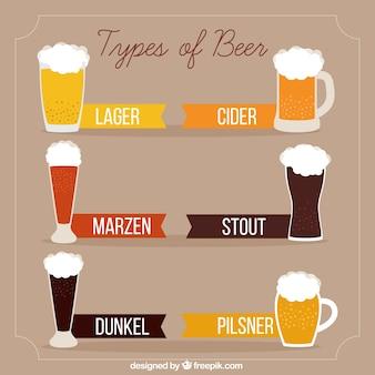 Types de délicieuses bières