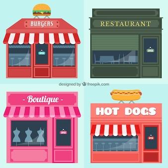Types de façades de bâtiments