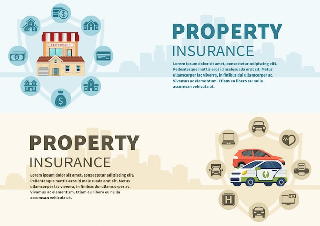 Types d'infographie de vecteur de voiture et de l'immobilier