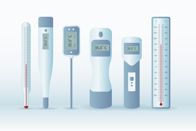 Types de thermomètres à design plat