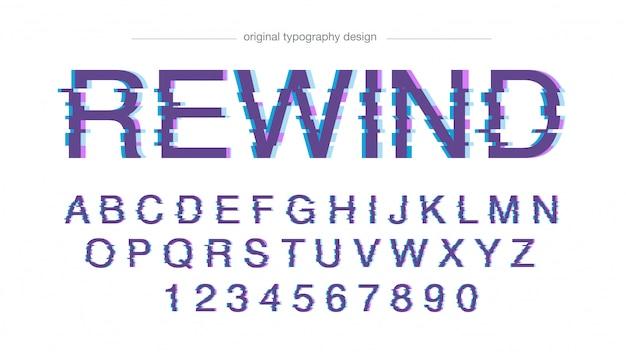 Typographie abstraite glitch