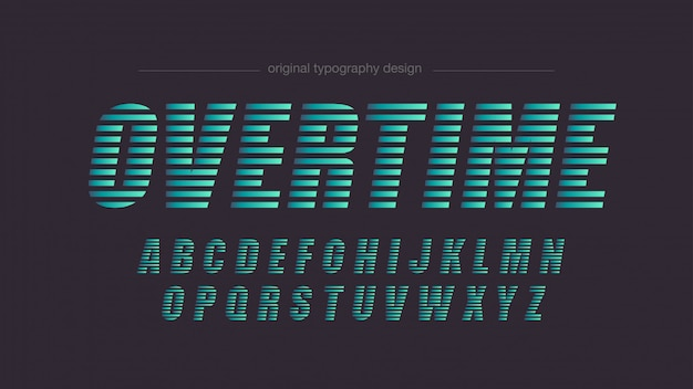 Typographie abstraite des lignes vertes