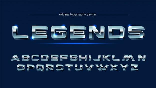 Typographie acier chrome acier