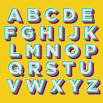 Typographie d'affichage coloré