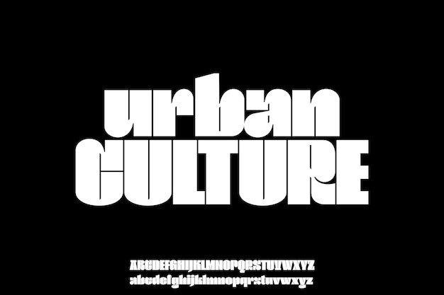Typographie d'alphabet de polices urbaines amusantes audacieuses