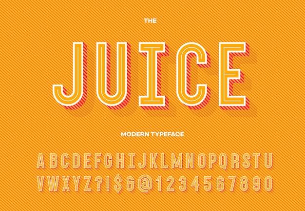 Typographie de l'alphabet sans empattement pour l'affiche de la fête